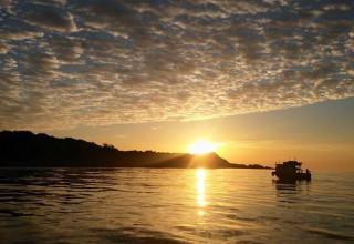 kefken adasında günbatımı