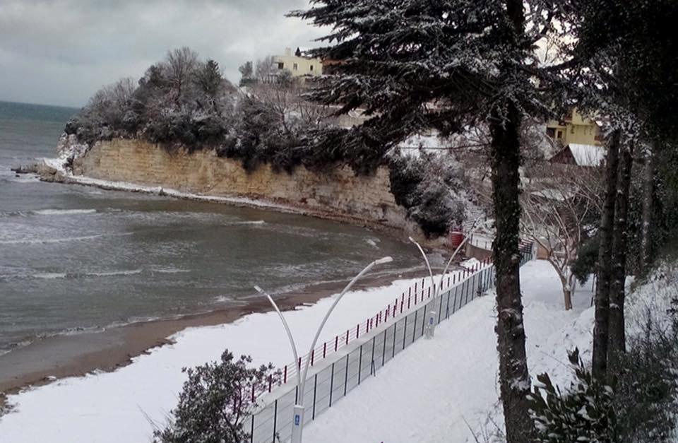erim tepesi kar manzarası -kefken